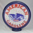 AMERICAN GASOLINE GAS PUMP GLOBE GLASS LENSES oil filling station DECOR