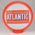 ATLANTIC GAS PUMP GLOBE GLASS LENSES oil filling station