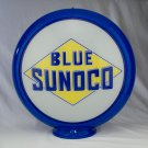 BLUE SUNOCO GAS PUMP GLOBE GLASS LENSES oil filling station DECOR