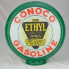 CONOCO ETHYL GASOLINE GAS PUMP GLOBE GLASS LENSES oil filling station DECOR