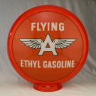 FLYING A ETHYL GAS PUMP GLOBE GLASS LENSES oil filling station DECOR
