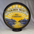 GOLDEN WEST GAS PUMP GLOBE GLASS LENSES oil filling station DECOR