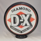 DIAMOND D-X GAS PUMP GLOBE GLASS LENSES oil filling station DECOR