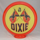 DIXIE GAS PUMP GLOBE GLASS LENSES oil filling station DECOR
