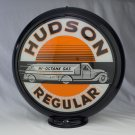 HUDSON REGULAR GASOLINE GAS PUMP GLOBE GLASS LENSES oil filling station DECOR