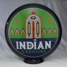 INDIAN PYRAMIDS GAS PUMP GLOBE GLASS LENSES oil filling station DECOR
