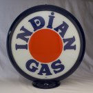 INDIAN GAS PUMP GLOBE GLASS LENSES oil filling station DECOR