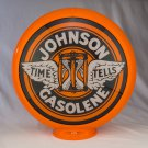 JOHNSON GASOLENE GAS PUMP GLOBE GLASS LENSES oil filling station DECOR