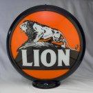 LION GAS PUMP GLOBE GLASS LENSES oil filling station DECOR
