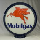 MOBILGAS GAS PUMP GLOBE GLASS LENSES oil filling station DECOR