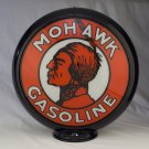 MOHAWK GAS PUMP GLOBE GLASS LENSES oil filling station DECOR