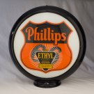 PHILLIPS 66 ETHYL SHIELD GAS PUMP GLOBE GLASS LENSES oil filling station DECOR