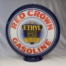 RED CROWN ETHYL GAS PUMP GLOBE GLASS LENSES oil filling station DECOR