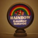 RAINBOW GASOLINE GAS PUMP GLOBE GLASS LENSES oil filling station DECOR