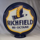 RICHFIELD HI OCTANE GAS PUMP GLOBE GLASS LENSES oil filling station DECOR