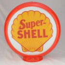 SUPER SHELL GAS PUMP GLOBE GLASS LENSES oil filling station DECOR