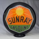 SUNRAY GASOLINE GAS PUMP GLOBE GLASS LENSES oil filling station DECOR