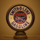 SMITH-O-LENE GASOLINE GAS PUMP GLOBE GLASS LENSES oil filling station DECOR