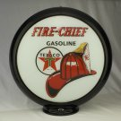 TEXACO FIRE-CHIEF GASOLINE GAS PUMP GLOBE GLASS LENSES oil filling station DECOR