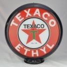 TEXACO ETHYL GASOLINE GAS PUMP GLOBE GLASS LENSES oil filling station DECOR