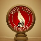WHITE EAGLE GASOLINE GAS PUMP GLOBE GLASS LENSES oil filling station DECOR