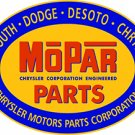 MOPAR PARTS OVAL METAL SIGN 34""