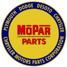 MOPAR ROUND HEAVY METAL SIGN 22""