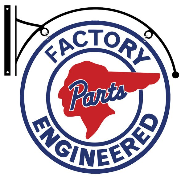 PONTIAC FACTORY ENGINEERED DOUBLE SIDED BRACKET SIGN