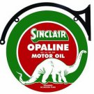 "SINCLAIR OPALINE MOTOR OIL DOUBLE SIDED 22"" DISK SIGN BRACKET"