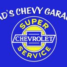 DAD'S CHEVY GARAGE PERSONALIZED RECTANGLE METAL SIGN 23""