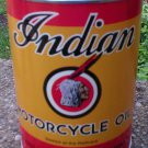 INDIAN MOTORCYCLE OIL CAN YELLOW & RED EMPTY