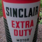 SINCLAIR EXTRA DUTY MOTOR OIL CAN PAPER LABEL NEW EMPTY