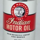WHITE INDIAN MOTORCYCLE OIL CAN 32 FL. OZ. METAL
