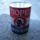 TIOPET PENNSYVANIA MOTOR OIL METAL CAN 32 FL. OZ NEW