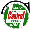 "Castrol Motor Oil Heavy Metal 22"" Double Sided Bracket Sign"