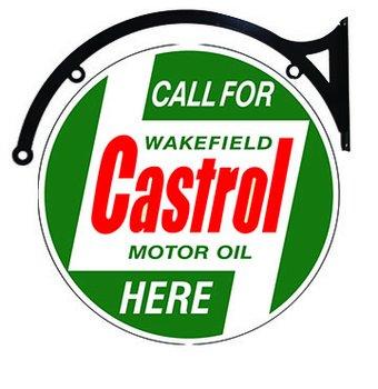 """Castrol Motor Oil Heavy Metal 22"""" Double Sided Bracket Sign"""