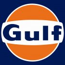 GULF LOGO Heavy Metal Sign
