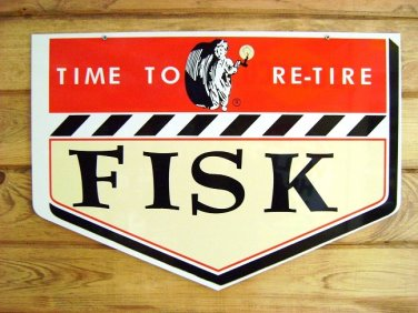 Fisk Tire Heavy Metal Advertising Sign 20""