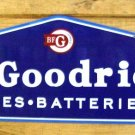 B F Goodrich Tires Batteries Heavy Metal Sign 30""