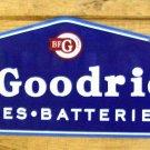 "B F Goodrich Tires Batteries Heavy Metal Sign 30"""