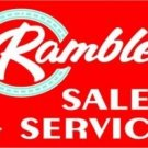 Rambler Sales Service Metal Sign Heavy Metal Sign 17""