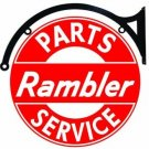 Rambler Double Sided Parts & Service Bracket Sign 22""
