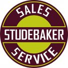 Studebaker Heavy Steel Baked Enamel Sign 22""