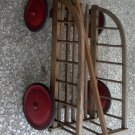 German Wood Flower Plant Cart Wagon Old Antique 4 Wheel Rustic Yard Garden Decor