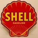 Shell Gasoline Steel Sign Red Clam Shaped