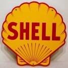 Shell Gasoline Steel Sign Yellow Clam Shaped