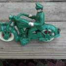 Champion Motorcycle Green Cast Iron Cabin Lodge Man Cave Home Decor