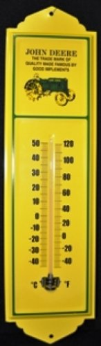 John Deere Thermometer Sign New Old Stock Farm Home Garage Shop Decor
