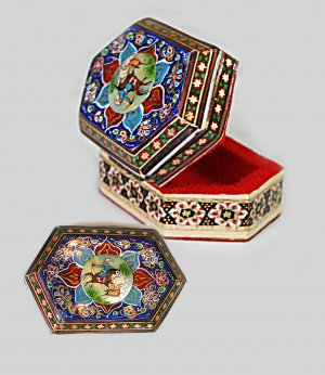 Persian Khatam jewelry box