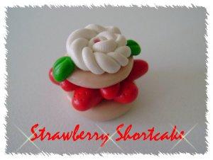 Polymer clay Strawberry Shortcake Single Bead
